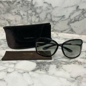 """TOM FORD Black """"Raquel"""" Oval Frame Sunglasses"""